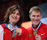 Ivan Ukhov. European Indoor Champion 2011 (Paris). With Aleksandr Shustov