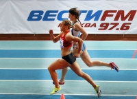 """Русская Зима"" IAAF Indoor Permit Meetings. 1000м. Лучкина Анна и Купина Екатерина"