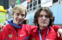 Ivan Ukhov. Bronze at World Indoor Championships 2012 (Istanbul). With Andrey Silnov
