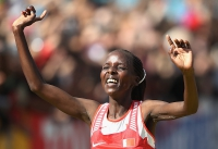 Rose Chelimo. Marathon World Champion 2017, London